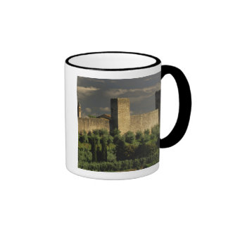 Walled city of Monteriggioni, in the province of Ringer Coffee Mug