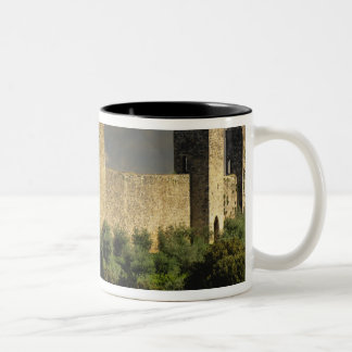 Walled city of Monteriggioni, in the province of Two-Tone Coffee Mug