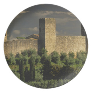 Walled city of Monteriggioni, in the province of Party Plates