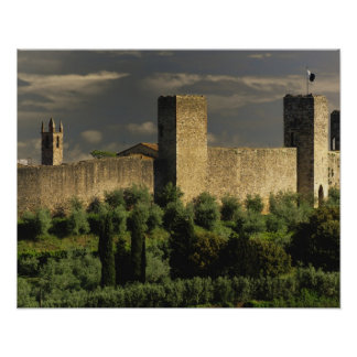 Walled city of Monteriggioni, in the province of Poster