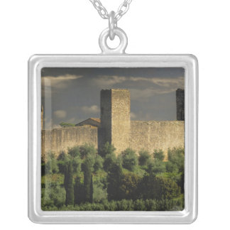Walled city of Monteriggioni, in the province of Silver Plated Necklace