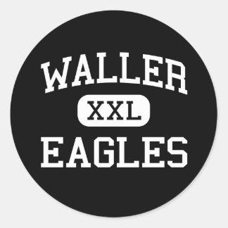 Waller - Eagles - Junior - Enid Oklahoma Classic Round Sticker