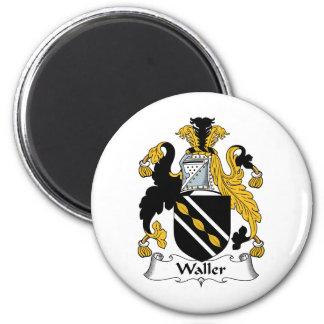 Waller Family Crest 2 Inch Round Magnet