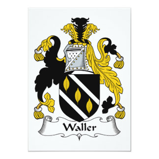 Waller Family Crest Personalized Invitation
