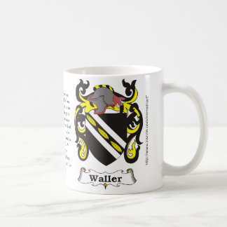 Waller, the origin, meaning and the crest coffee mugs