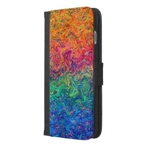 Wallet Case iPhone 6 Plus Fluid Colors