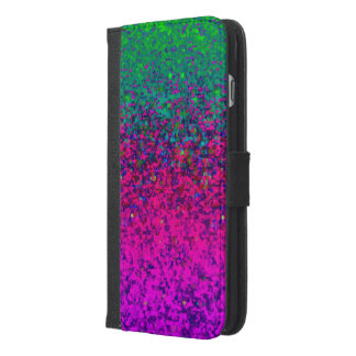 Wallet Case iPhone 6 Plus Glitter Dust Background