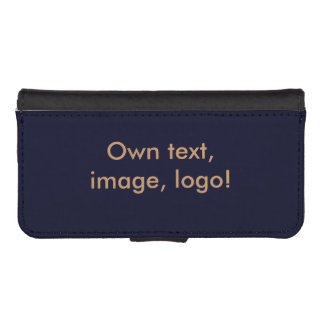 Wallet Case iPhone uni Dark Blue
