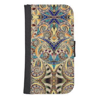 Wallet Case Samsung S4 Drawing Floral Zentangle Phone Wallet Cases