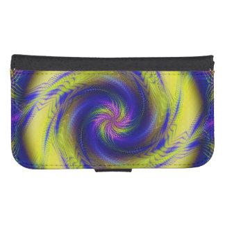 Wallet Case Samsung S4 Fractal Spiral Vortex Galaxy S4 Wallet Case
