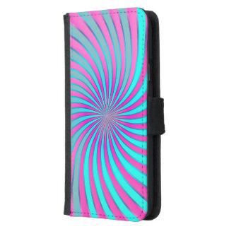 Wallet Case Samsung S5 Spiral Vortex