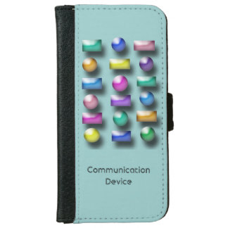 Wallet Case - Three dimensional buttons iPhone 6 Wallet Case