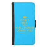 [Two hearts] don't cry coz niall horan loves you  Wallet Cases (iPhone 5/5s/6 & Galaxy S4/S5)