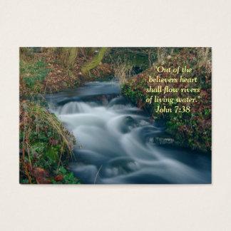 Wallet inspirational card living water