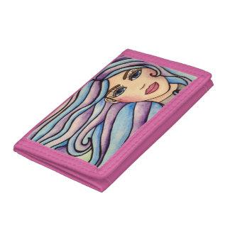 Wallet nylon Lady Violet & Blue