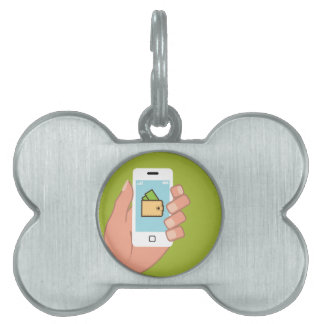Wallet Phone in Hand Pet Name Tag