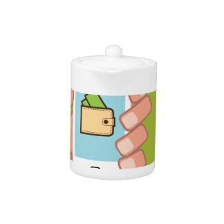 Wallet Phone in Hand Teapot