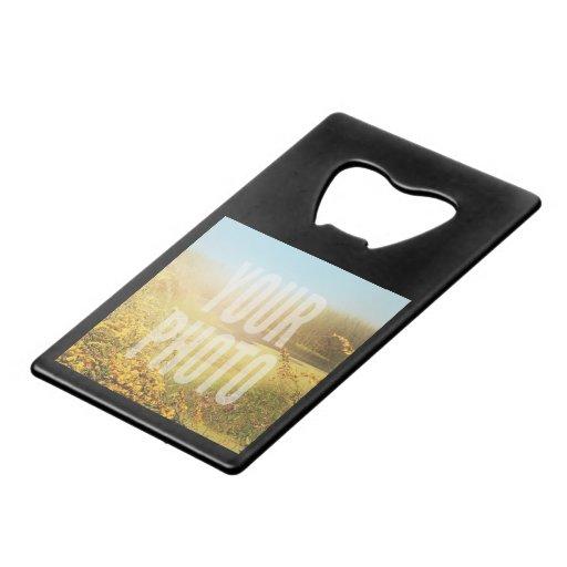 wallet size bottle opener fit template credit card bottle opener zazzle. Black Bedroom Furniture Sets. Home Design Ideas