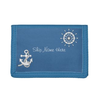 Wallet (std) - Ship Helm and Anchor