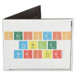 Periodic Table Writer  Wallet Tyvek® Billfold Wallet