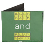 KEEP CALM and PLAY GAMES  Wallet Tyvek® Billfold Wallet