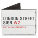 LONDON STREET SIGN  Wallet Tyvek® Billfold Wallet