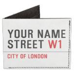 Your Name Street  Wallet Tyvek® Billfold Wallet