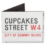 cupcakes Street  Wallet Tyvek® Billfold Wallet
