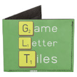 Game Letter Tiles  Wallet Tyvek® Billfold Wallet