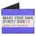 make your own street sign  Wallet Tyvek® Billfold Wallet