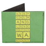 keep calm and love Retha wa Bongz  Wallet Tyvek® Billfold Wallet
