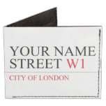 Your Name Street  Wallet Tyvek® Billfold Wallet