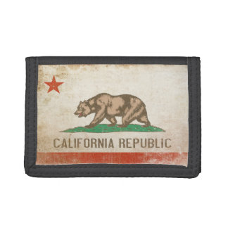Wallet with Distressed Flag from California