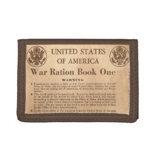 Wallett del libro de ración de la guerra