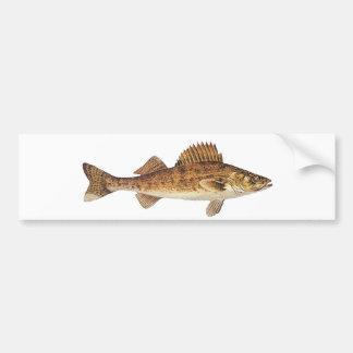 Walleye Art Bumper Sticker