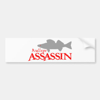 WALLEYE ASSASSIN BUMPER STICKER