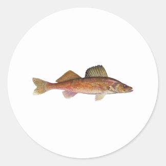 Walleye Classic Round Sticker