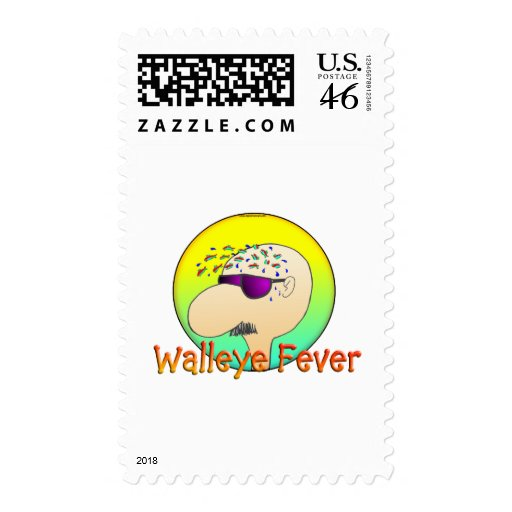 WALLEYE FEVER POSTAGE STAMP