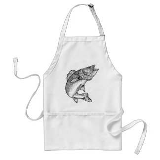 Walleye Fish Adult Apron