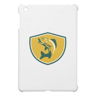 Walleye Fish Jumping Crest Retro iPad Mini Case