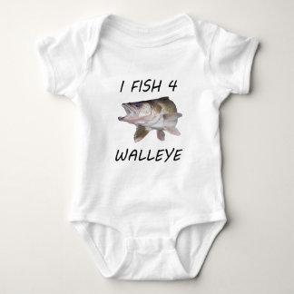 Walleye fishing baby bodysuit