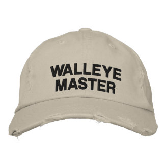 Walleye Fishing Master Embroidered Hats