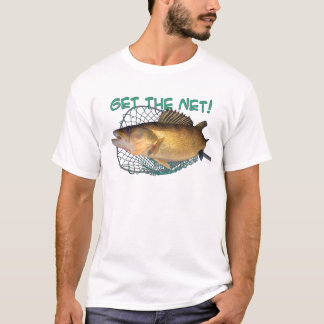 Walleye fishing net T-Shirt