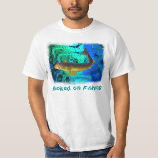 Walleye Fishing Outdoor Fisherman's Fractal Art T-Shirt