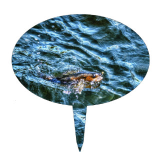 Walleye Fishing Outdoor Fisherman's Sporting Art Cake Topper
