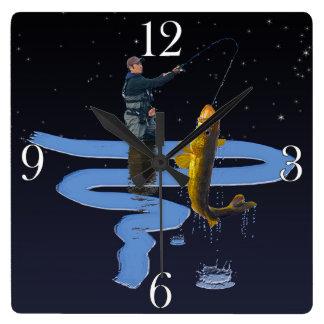 Walleye Fishing Outdoor Fisherman's Sporting Gift Clock