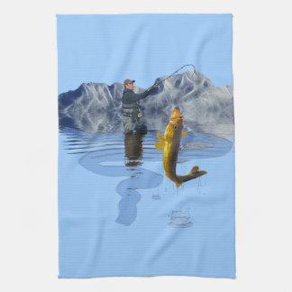 Walleye Fishing Outdoor Fisherman's Sporting Gift Hand Towel