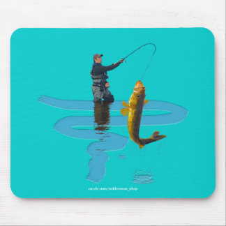 Walleye Fishing Outdoor Fisherman's Sporting Gift Mouse Pad
