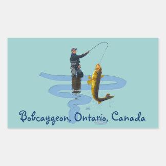 Walleye Fishing Outdoor Fisherman's Sporting Gift Rectangular Sticker