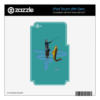 Walleye Fishing Outdoor Fisherman's Sporting Gift Skin For iPod Touch 4G